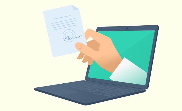 Terveydenhuollon yksikön potilastietojärjestelmä syöttää osan tiedoista valmiiksi lomakkeelle.