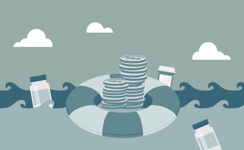Alin päiväraha on suuruudeltaan alle puolet keskimäärin maksettavasta sairauspäivärahasta.