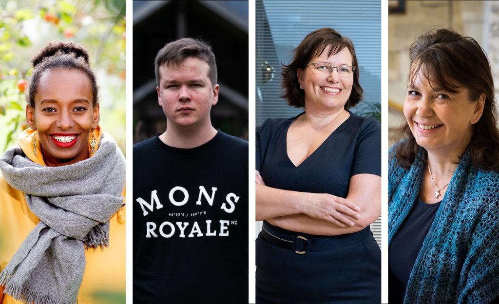 Bella Forsgren, Sami Kieksi, Nina Nissilä ja Riikka Slunga-Poutsalo